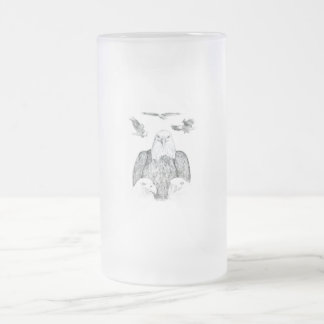 Dibujo de Eagle calvo Taza Cristal Mate