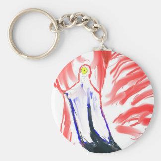 Dibujo de Flamingoe del rosa de la pintura al óleo Llaveros