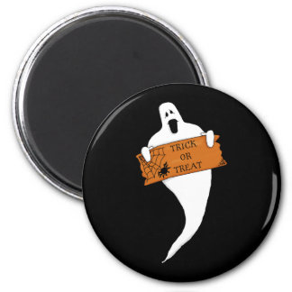 Dibujo de Halloween del fantasma del truco o de la Imán Redondo 5 Cm