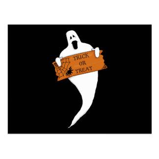 Dibujo de Halloween del fantasma del truco o de la Postal