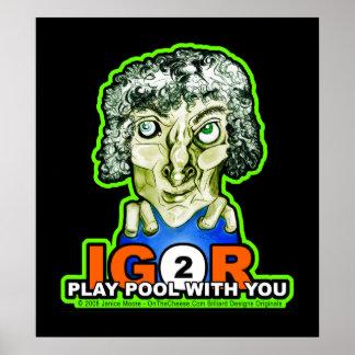 Dibujo de Halloween del monstruo de Igor de los bi Poster