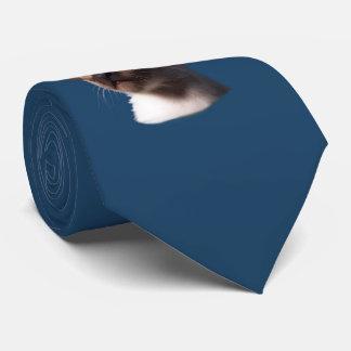 Dibujo de la acuarela del gato siamés corbatas personalizadas