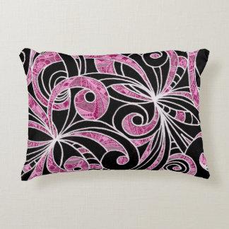 Dibujo de la almohada del acento floral cojín decorativo