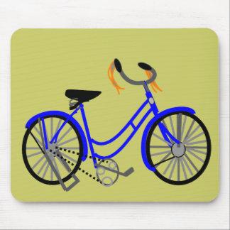 Dibujo de la bicicleta, estilo de los años 50 alfombrillas de ratones