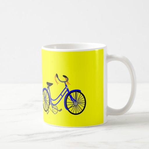 Dibujo de la bicicleta, estilo de los años 50 taza
