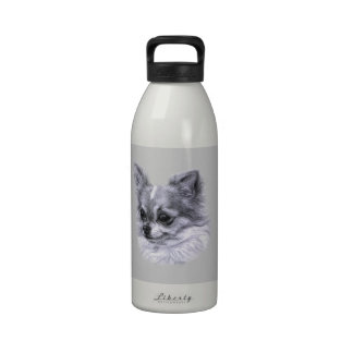 Dibujo de la chihuahua botellas de beber