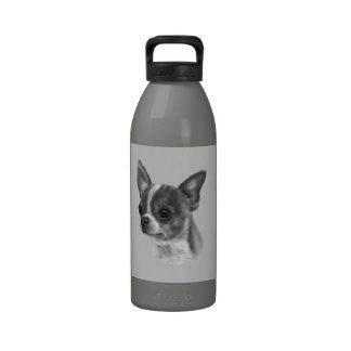Dibujo de la chihuahua botella de beber