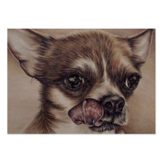 Dibujo de la chihuahua en una tarjeta de visita