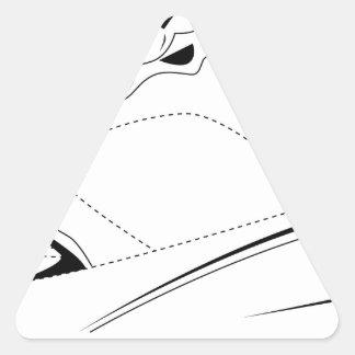 Dibujo de la demostración de los deportes pegatina triangular