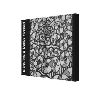 Dibujo de la fábrica del buñuelo del calabozo impresiones en lona estiradas