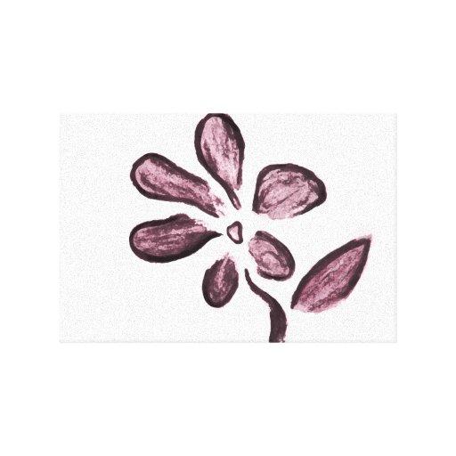 Dibujo de la flor impresión en lona