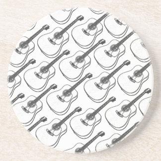 Dibujo de la guitarra posavasos personalizados