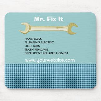 Dibujo de la herramienta de la llave de Mr.FiX Tapete De Raton