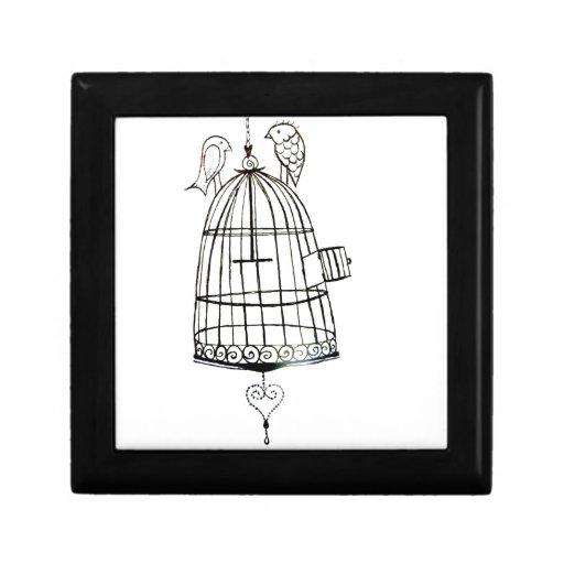 dibujo de la jaula de pájaros cajas de regalo