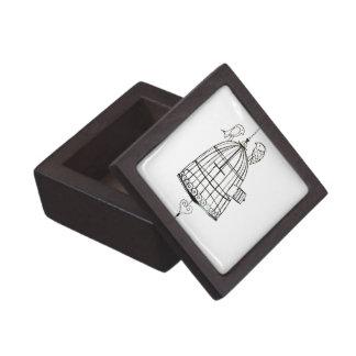dibujo de la jaula de pájaros caja de regalo de calidad