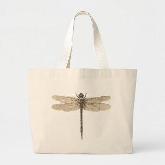 Dibujo de la libélula del vintage bolsa de mano