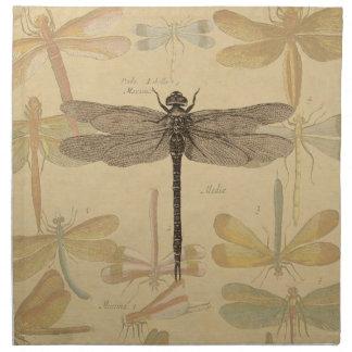 Dibujo de la libélula del vintage servilletas