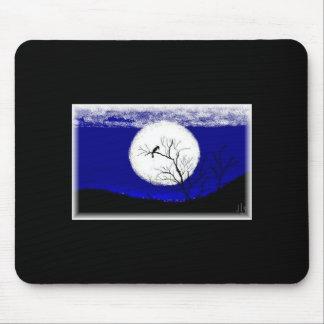 dibujo de la Luna Llena del papá REVISADO, fondo C Mouse Pads
