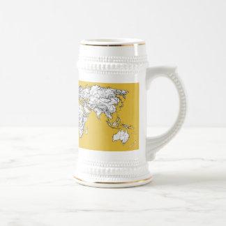 Dibujo de la mostaza del atlas jarra de cerveza