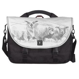 Dibujo de la multitud de las ovejas bolsas de portatil
