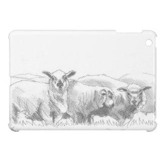 Dibujo de la multitud de las ovejas iPad mini carcasa