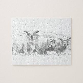 Dibujo de la multitud de las ovejas rompecabeza con fotos