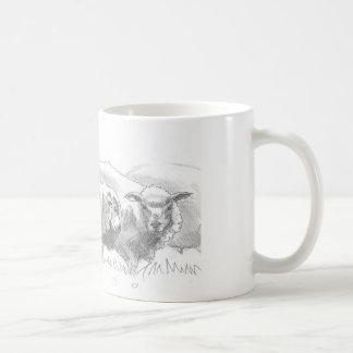 Dibujo de la multitud de las ovejas taza de café