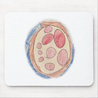 Dibujo de la pizza de salchichones alfombrilla de ratones