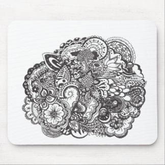 Dibujo de la pluma y de la tinta alfombrillas de ratón