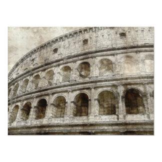 """Dibujo de la sepia de Colosseum Invitación 6.5"""" X 8.75"""""""