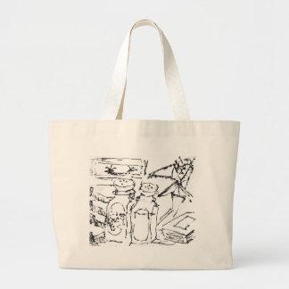 Dibujo de la tinta de la sal y de la pimienta bolsa de mano