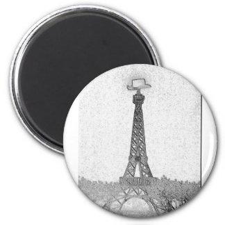 Dibujo de la torre Eiffel de París, Tejas Iman De Frigorífico