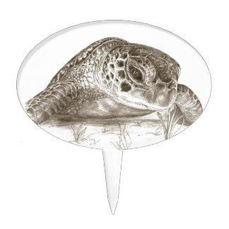 Dibujo de la tortuga de mar verde figuras para tartas