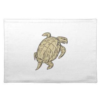 Dibujo de la tortuga de Ridley Mantel Individual