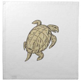 Dibujo de la tortuga de Ridley Servilleta De Papel