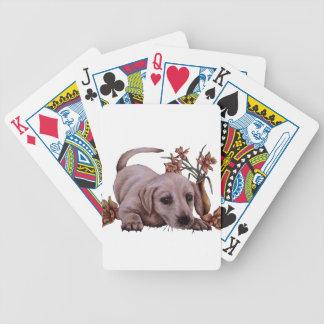 Dibujo de Labrador con los narcisos Baraja Cartas De Poker
