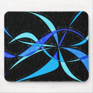 Dibujo de lápiz azul fresco abstracto moderno de tapetes de raton