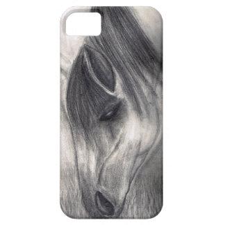 Dibujo de lápiz - caballo que pasta iPhone 5 Case-Mate protector