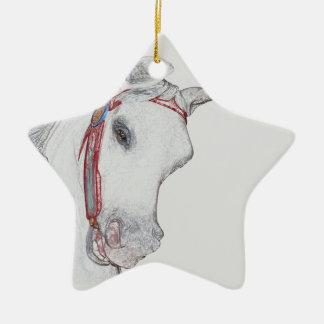 Dibujo de lápiz coloreado potro del carrusel adornos de navidad