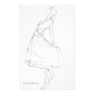 Dibujo de lápiz de la mujer elegante 'para Joy Papeleria