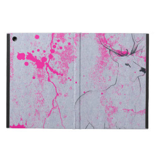 Dibujo de lápiz de los ciervos con el modelo rosad