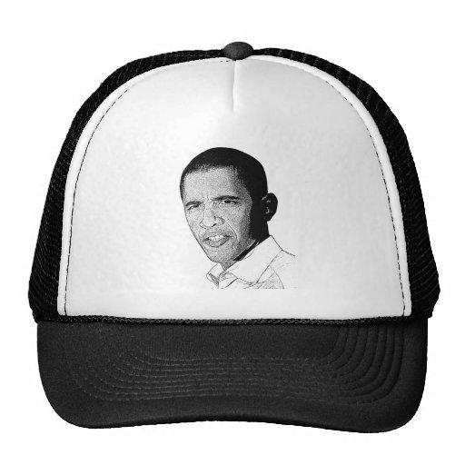 Dibujo de lápiz de Obama Gorra