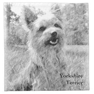 Dibujo de lápiz de Yorkshire Terrier Servilletas Imprimidas