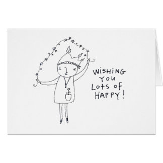 dibujo de lápiz del arte contemporáneo tarjeta de felicitación