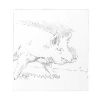 Dibujo de lápiz del cerdo blocs