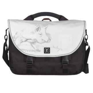 Dibujo de lápiz del cerdo bolsas de portatil