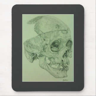 Dibujo de lápiz del cráneo tapete de raton