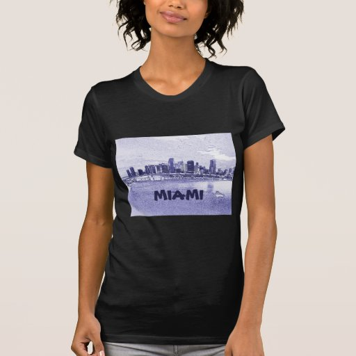 Dibujo de lápiz del horizonte de Miami, la Florida Camisetas