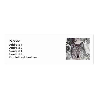 Dibujo de lápiz del lobo tarjetas de visita mini