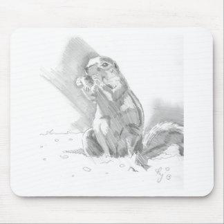 dibujo de lápiz del perro de las praderas tapetes de raton